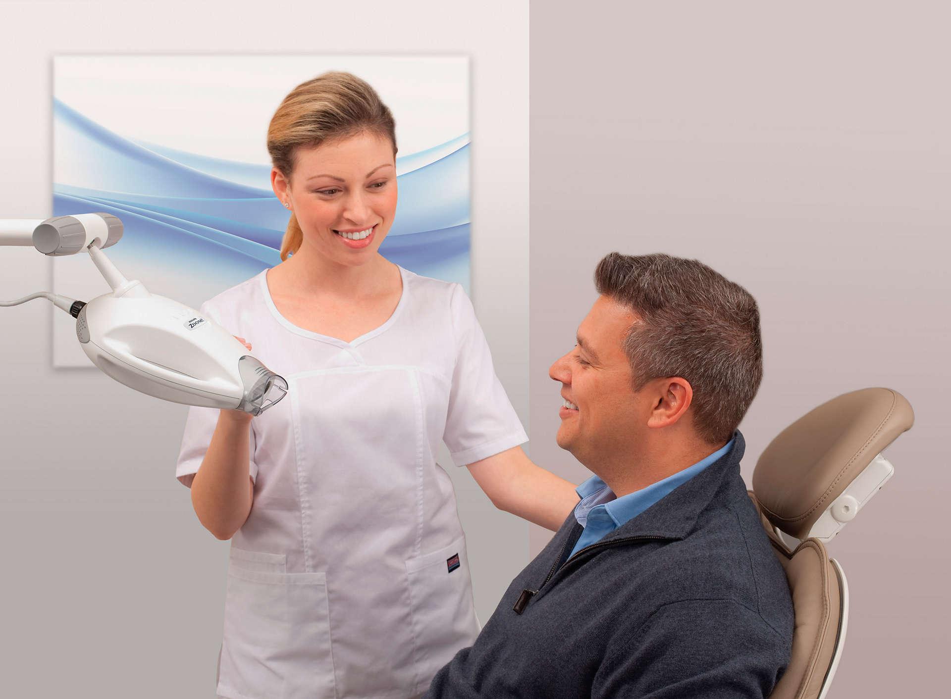 paciente antes de tratamiento de blanqueamiento dental